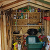 Everything is now in the shed and still room for more!