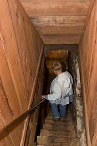 Descending to the cellars.
