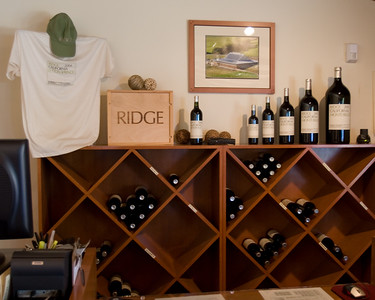The sales area in the tasting room.