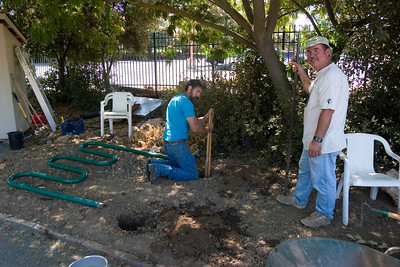 Installing the bike rack at Charles Street Garden, Sunnyvale, CA.