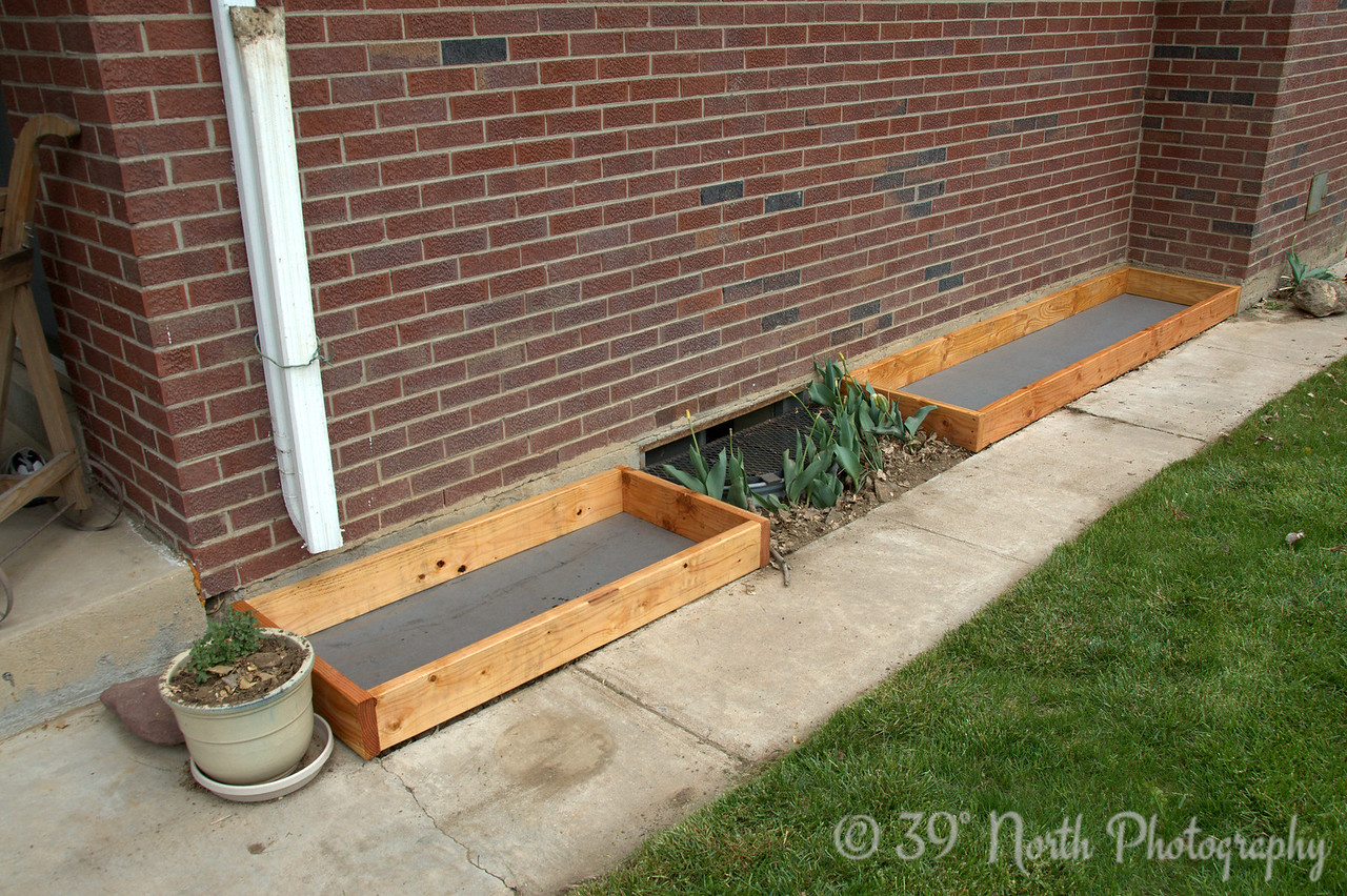 "One 2 x 4 and one 2 x 8. These will contain the ""salsa garden"" and any climbing plants."