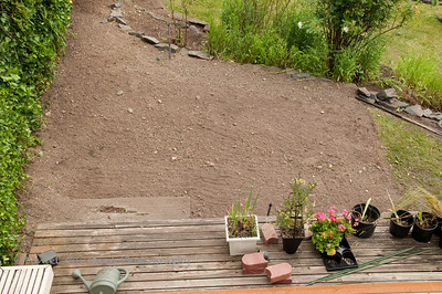 Space cleared out for Square Foot Garden.