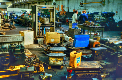 The workshop that supports the machinery that operates in the forge