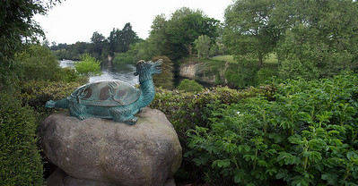 Celestial Yuan of Taihu (bronze turtle) Presented by the Hamilton sister city of Wuxi on 1 October 1998 Chinese Scholar's Garden Hamilton Gardens Hamilton New Zealand - 4 Nov 2006