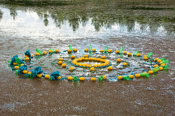 7 Gaye Jurisich Doily Plastic bottles, floats, plastic