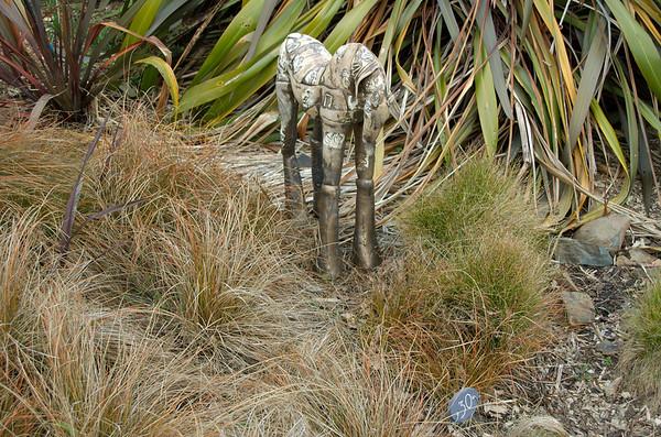 Lily horse Fiona Tunnicliffe - Clay Sculpture-in-the-Park 2006 Waitakaruru Arboretum Hamilton  New Zealand - 3 Nov 2006