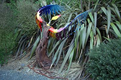 Winged Victory Doug Kennedy - Matai, steel, copper & polychrome Sculpture-in-the-Park 2006 Waitakaruru Arboretum Hamilton  New Zealand - 3 Nov 2006