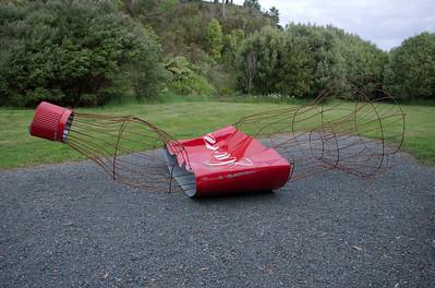 The seductability of consumerism Donna Ratana - Steel Sculpture-in-the-Park 2006 Waitakaruru Arboretum Hamilton  New Zealand - 3 Nov 2006
