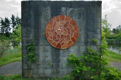 Time Christopher Trotter - Recycled rimu & ply Sculpture-in-the-Park 2006 Waitakaruru Arboretum Hamilton  New Zealand - 3 Nov 2006