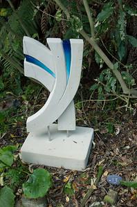Vim Jo Pervan - Hinuera stone, stainless steel & paint Sculpture-in-the-Park 2006 Waitakaruru Arboretum Hamilton  New Zealand - 3 Nov 2006