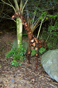 Standing tall Nathan Hull - Copper & wire Sculpture-in-the-Park 2006 Waitakaruru Arboretum Hamilton  New Zealand - 3 Nov 2006