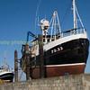 Fishing vessels under maintenance at Fraserbough