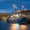 Fishing boat  at Macduff at dusk.