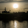 silhouette over Peterhead harbour