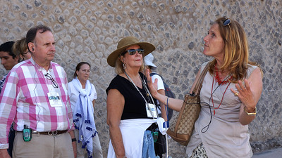 Our guide in Pompeii