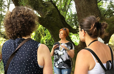 Our guide in the Garden of Ninfa