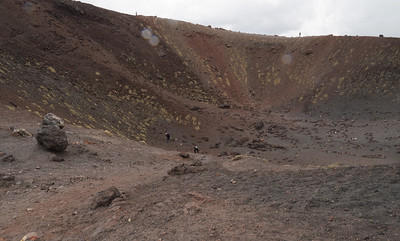 One of the craters near the top of Mt Etna