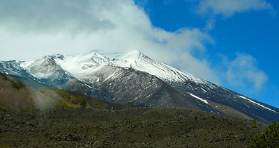View of Mt Etna near the top