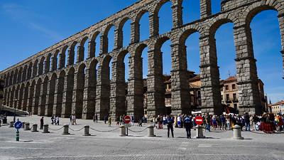 Roman aqueduct in Segovia from 1st century AD
