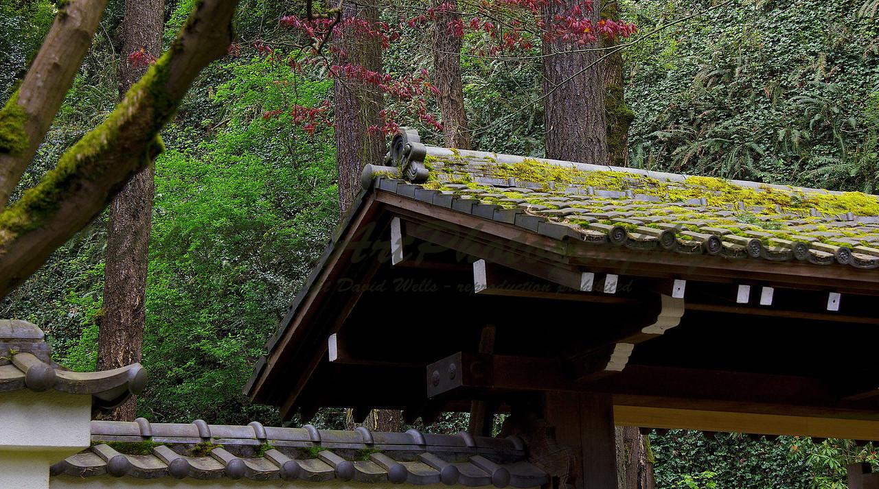 Japanese Garden roof detail