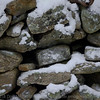The back stone wall in snow #1