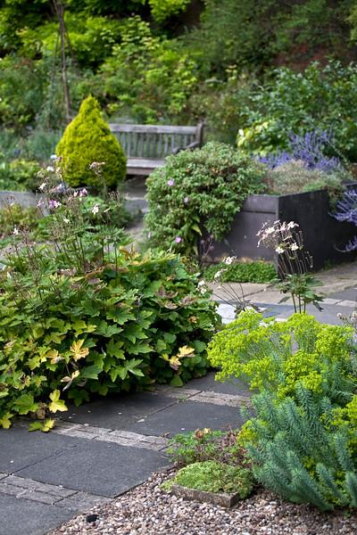 alpine garden at Birmingham Botanical Gardens