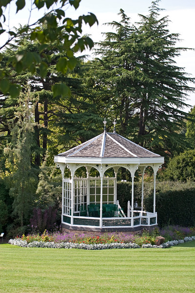 Birmingham Botanical Gardens view of the bandstand