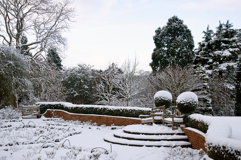 Birmingham Botanical Gardens in snow