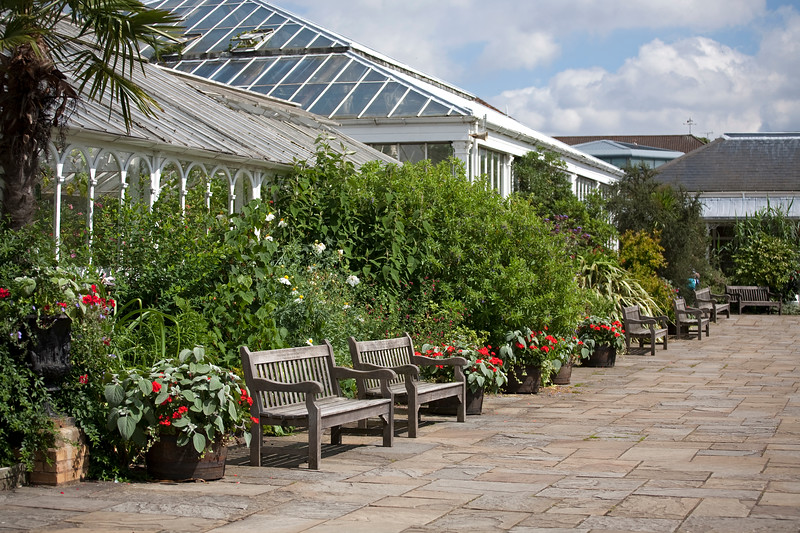 View of Loudon Terrace at Birmingham Botanical Gardens