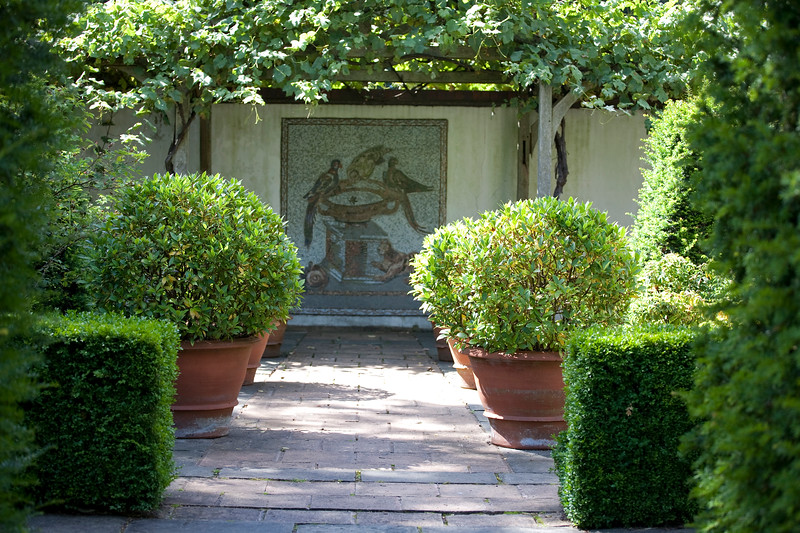 Italianate Garden with shaped yews
