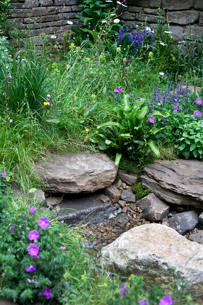 Naturally Dry - a William Wordsworth-inspired garden, Chelsea Flower Show 2012, Artisan Garden, a beautiful drought-tolerant garden, designed by Vicky Harris, sponsor Veolia Water