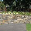 Neat raised bed using dry-stone walling techniques