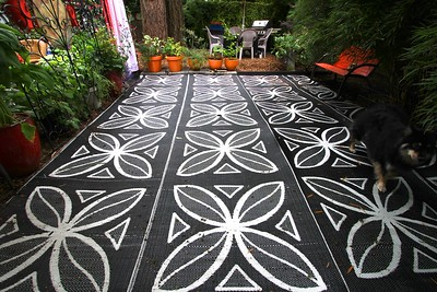 These huge RV mats are tough as nails....as long as they are anchored down  properly
