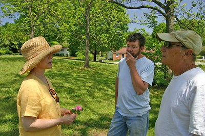 Lila, Jesse and Jim consider the sad fate of some roses we've seen.
