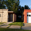 Nelsonville Village Hall next to Pops Fix-It Shop.  The Village Hall looks like it hardly holds more than three people.