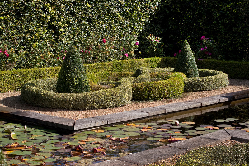 Formal pool and Knot Garden, Barnsdale Garden