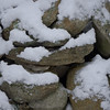 The back stone wall in snow #2