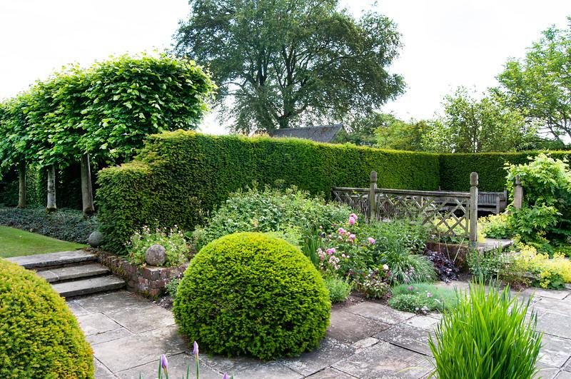 Wollerton Old Hall Garden, Shropshire, June,