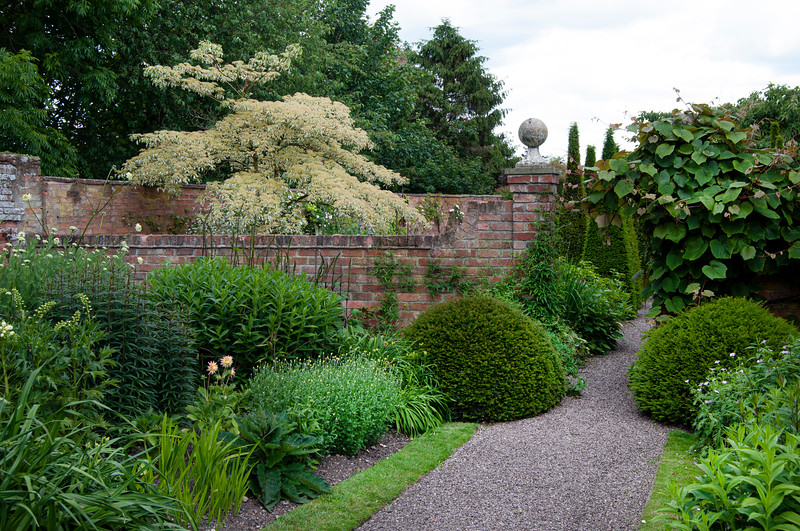 The main border at Wollerton Old Hall Garden, Shropshire, June,