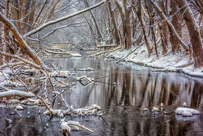 New snow on Rice Lake Creek-Watertown MN. 2