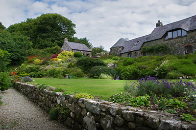 Ffald-y-Brenin gardens in summer.