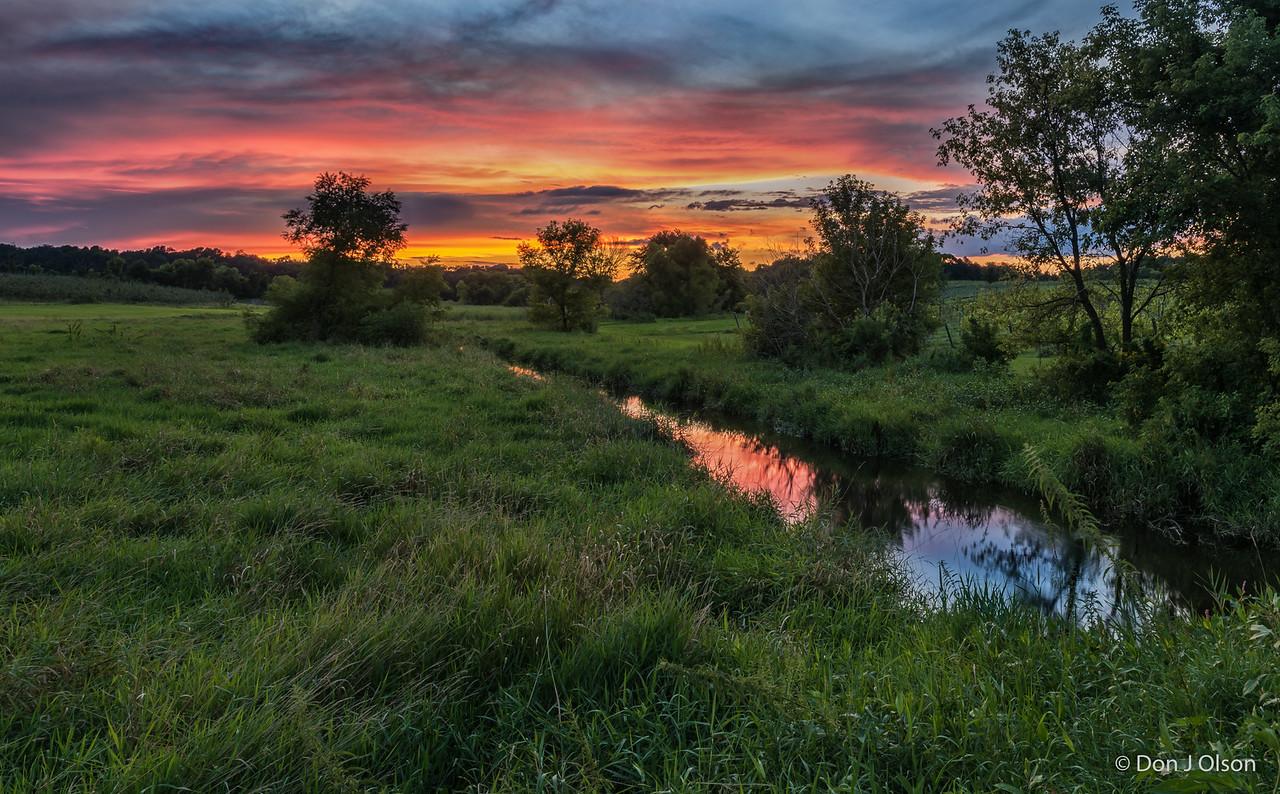 Luceline Orchard Creek at sunset. Aug 16, 2016