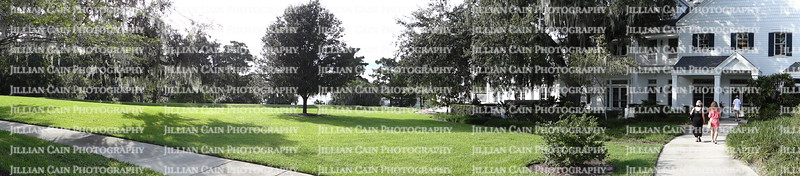 Panoramic view of house and landscaping