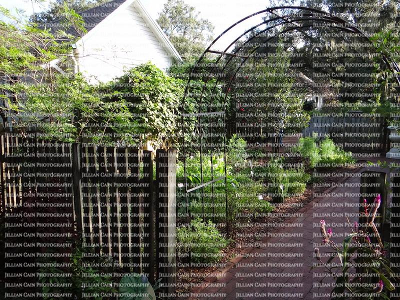 arbor in the gardens