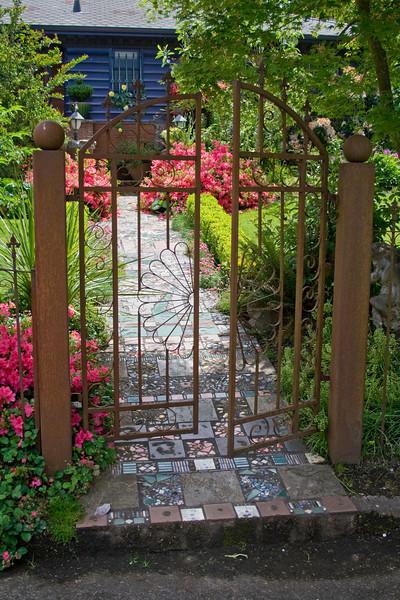 Iron Filigree Garden Gate