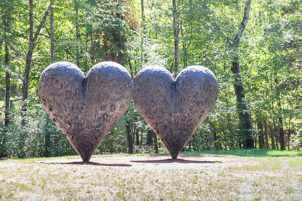 Two Big Black Hearts, by Jim Dine