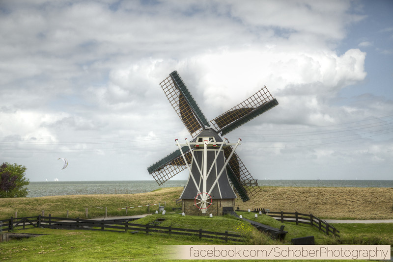 the mill to pump the water out to create land called a 'polder'
