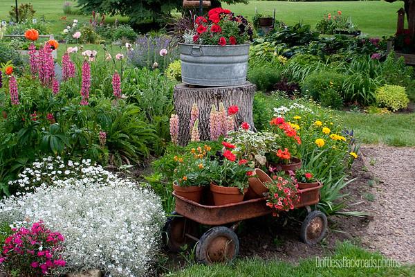 Wagon in Garden