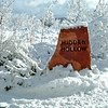 Hidden Hollow Stone in Snow 14x20
