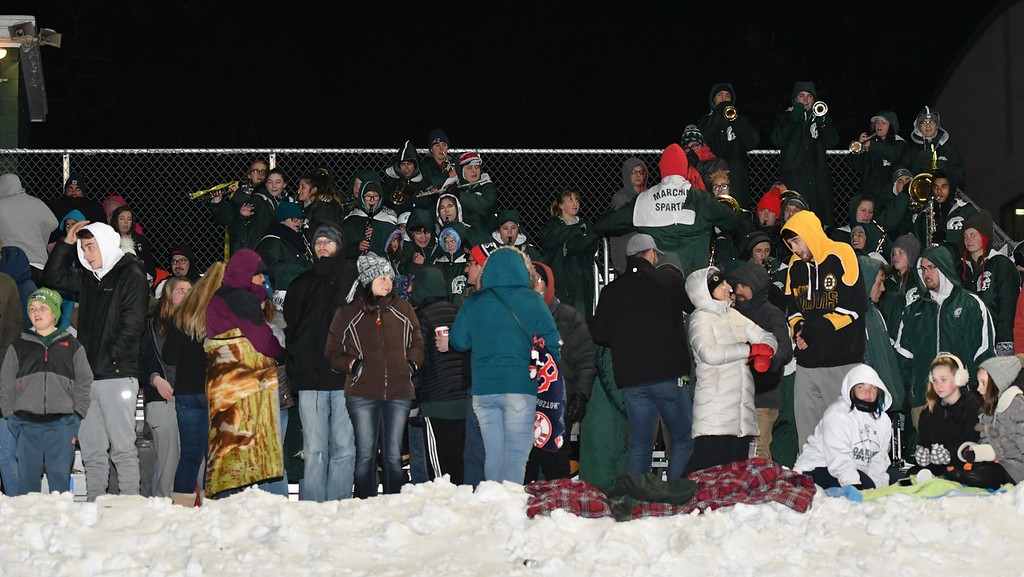 . The Fans came out in the cold for the Gardner - Oakmont Thanksgiving Football Game. Sentinel & Enterprise / Jim Fay